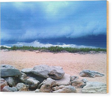 Tranquil Storm Wood Print by Julie Wilcox