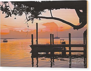 Tranquil Sunset Wood Print
