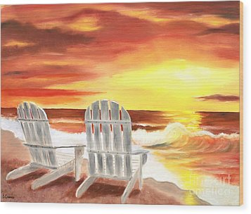 Wood Print featuring the painting Tranquility by Bev Conover