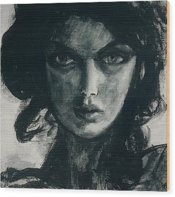 Portait Of Beatcee May Wood Print