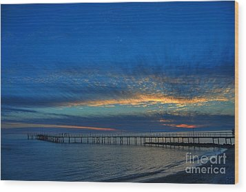 Sky Paint Wood Print