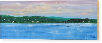 Tranquility On The Navesink River Wood Print