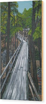 Wood Print featuring the painting Tranquility Trail by Sharon Duguay