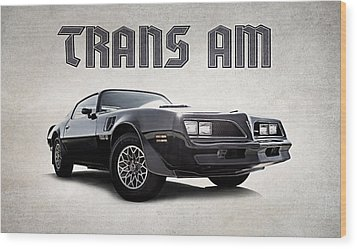 Wood Print featuring the digital art Trans Am by Douglas Pittman