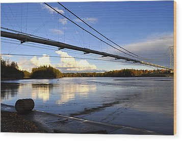 Wood Print featuring the photograph Transalaska Pipeline Bridge by Cathy Mahnke