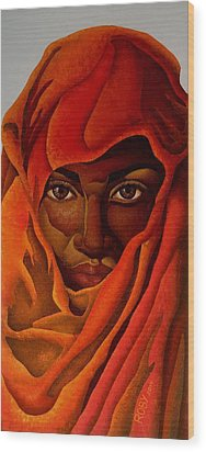 Transcendental Nubian Wood Print by William Roby
