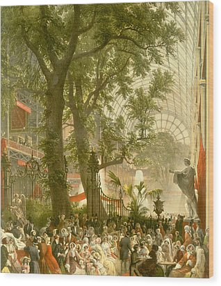 Transept Of The Crystal Palace Wood Print by  Louis Haghe