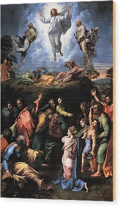 Transfiguration Reproduction Art Work Wood Print by Raphael