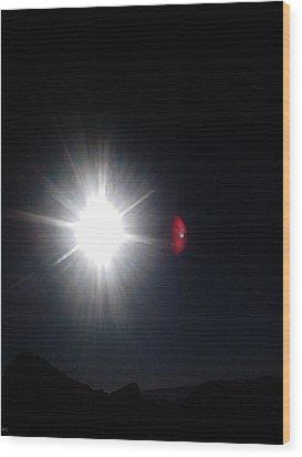 Transit Of Venus 2012 Rare Capture Wood Print by Rc Rcd