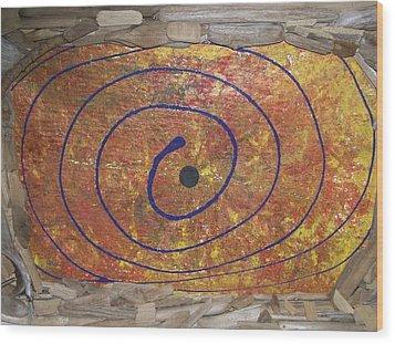 Wood Print featuring the painting Transit Of Venus by Jonathon Hansen