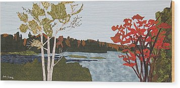 Transitional Peace Wood Print by Anita Jacques