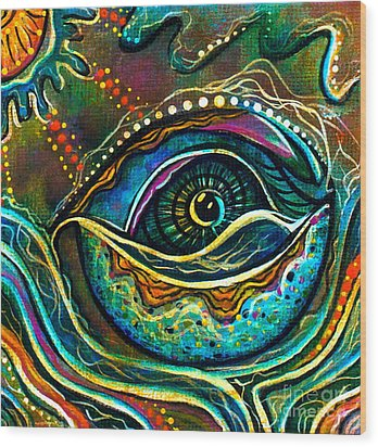 Transitional Spirit Eye Wood Print