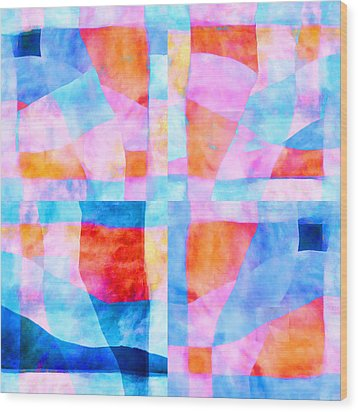 Translucent Quilt Wood Print by Carol Leigh