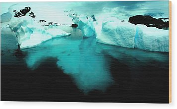 Wood Print featuring the photograph Transparent Iceberg by Amanda Stadther