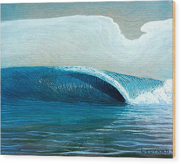 Transparent Sea Wood Print by Nathan Ledyard