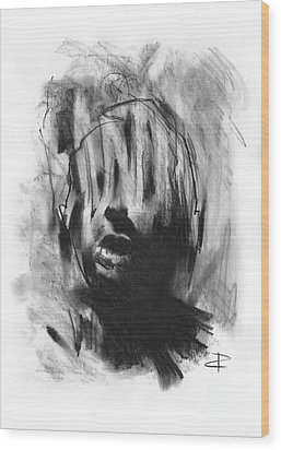Wood Print featuring the drawing Gaza Trauma by Paul Davenport