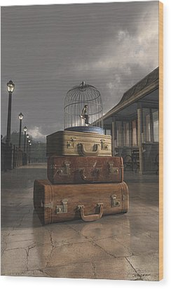 Traveling Wood Print by Cynthia Decker