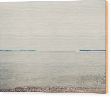 Traverse Bay Wood Print by Elle Moss