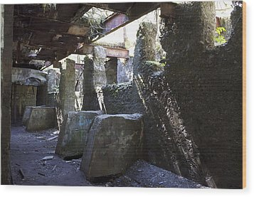 Treadwell Mine Interior Wood Print