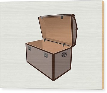 Treasure Box Wood Print by Sinisa Botas