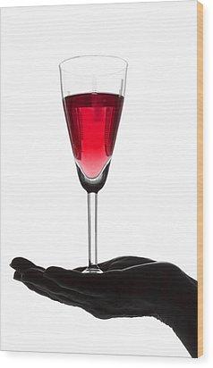 Treasured Wine Wood Print by Svetlana Sewell