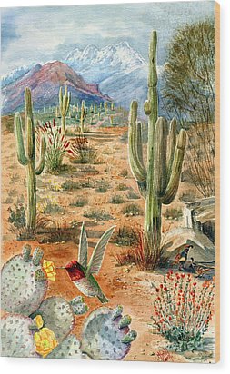 Treasures Of The Desert Wood Print by Marilyn Smith