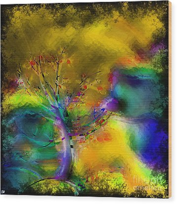 Tree Abstract - Bold Is Beautiful Wood Print by Liane Wright