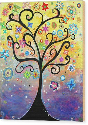 Tree Art Fantasy Abstract Wood Print by Bob Baker and Pooki Lee