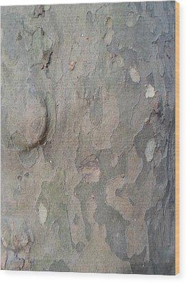 Tree Bark Wood Print by Jenna Mengersen