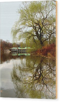 Tree By The River  Wood Print by Mark Ashkenazi