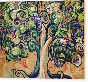 Tree Candy 2 Wood Print by Genevieve Esson