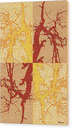 Tree Dance Wood Print by Christopher Byrd