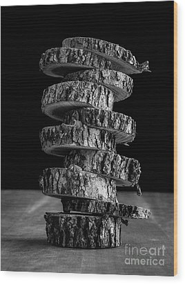 Tree Deconstructed Wood Print by Edward Fielding