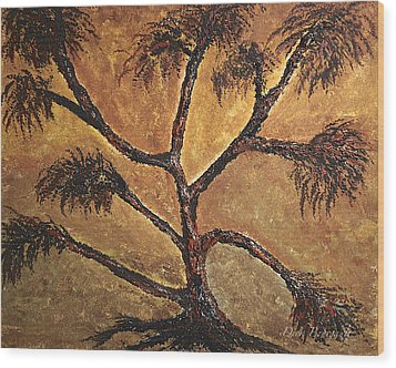 Tree Wood Print by Dick Bourgault