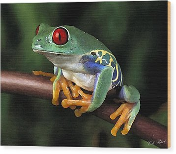 Tree Frog Wood Print by Cole Black