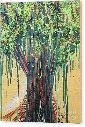 Tree Grit Wood Print by Genevieve Esson