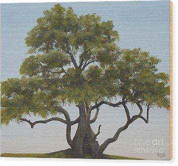 Tree Home I Wood Print