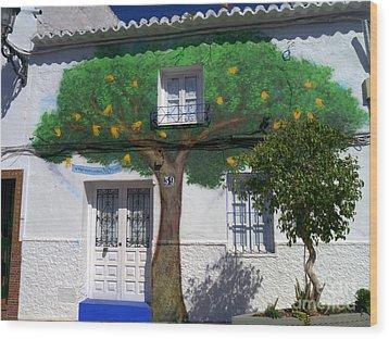 Tree House In Spain Wood Print