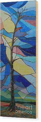 Tree Intensity - Sold Wood Print by Judith Espinoza