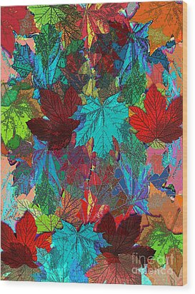 Tree Leaves Wood Print by Klara Acel