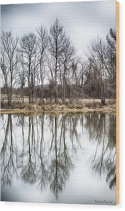 Wood Print featuring the photograph Tree Line In Winter  by Yvonne Emerson AKA RavenSoul