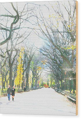 Tree Lovers Lane Wood Print