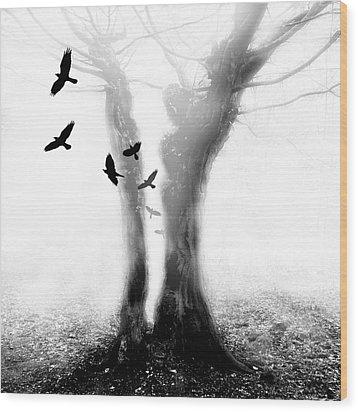 Tree Wood Print by Mariusz Zawadzki