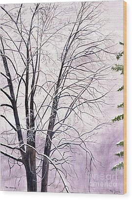 Wood Print featuring the painting Tree Memories by Melly Terpening