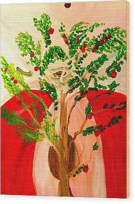 Tree Of Apples Wood Print by Pretchill Smith