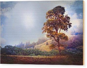 Tree Of Dreams Wood Print by Debra and Dave Vanderlaan