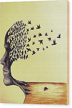 Tree Of Dreams Wood Print