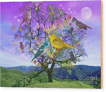Tree Of Happiness Wood Print by Alixandra Mullins