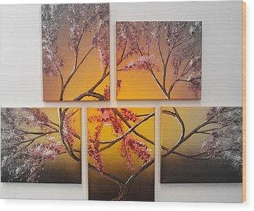Tree Of Infinite Love Spotlighted Wood Print