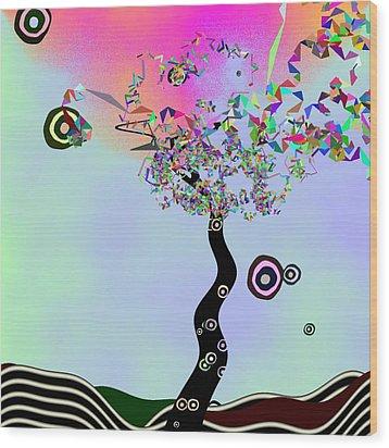 Tree Of Jim Morrison Wood Print by GuoJun Pan